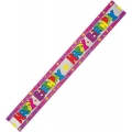 Rainbow Coloured Glittery &quot;Happy Birthday&quot; Banner Purple edged